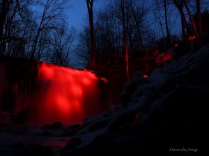 This was last night March 20, 2015 when we illuminated Great Falls in Sergeant Doiron's memory