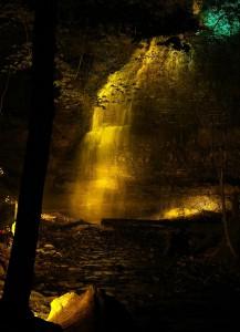 Tiffany Falls Test illumination