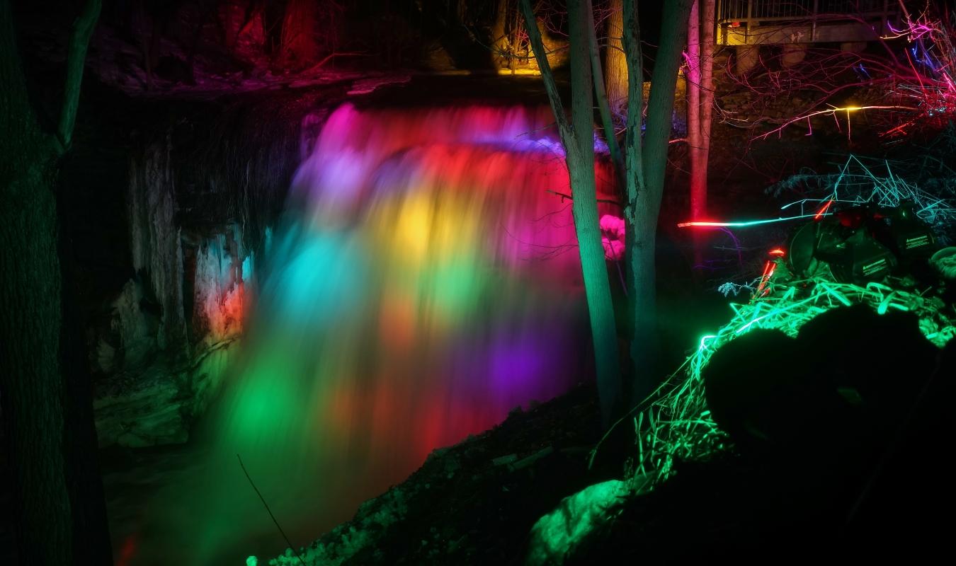 waterfall illumination