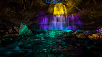 Sherman Falls – One Brave Night Illumination